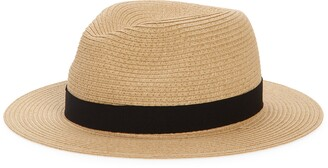 Madewell Packable Straw Fedora Hat