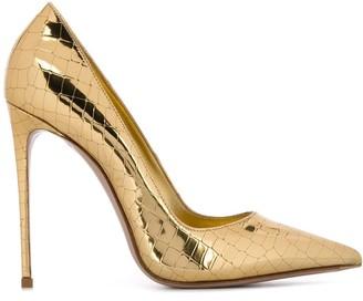 Le Silla Crocodile Effect 120mm Stiletto Heel Pumps