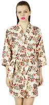 Bimba Women Floral Cotton Custom Short Robe Ready Bridesmaid Robe CoveUp