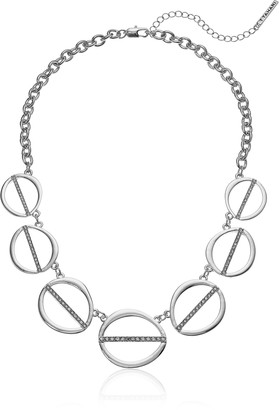T Tahari Womens Essentials Linked Ovals Necklace