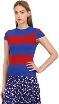 Stella McCartney Striped Compact Viscose Blend Sweater