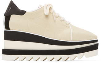 Stella McCartney Beige Linen Sneak-Elyse Sneakers