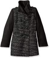 Jessica Simpson Girls' Faux Wool Dress Coat