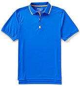 Bobby Jones Golf XH20 Solid Pique Quarter-Zip Short-Sleeve Polo Shirt