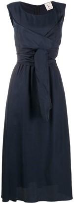 L'Autre Chose Tie-Waist Midi Skirt