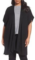 Eileen Fisher Plus Size Women's Sleek Knit Kimono Cardigan