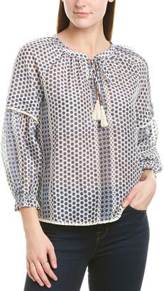 Greylin Azalea Silk-Blend Top