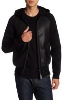 Mackage Lasercut Leather Hooded Jacket