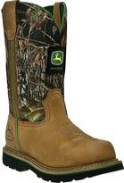 "John Deere Men's Boots 11"" Safety Toe Work Wellington 4348"