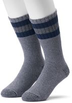 Croft & Barrow Men's 2-pack Striped Cold-Weather Crew Boot Socks