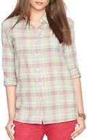 Lauren Ralph Lauren Petite Plaid Boyfriend Shirt