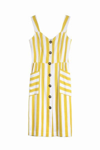 FRNCH Aurela F 10237 Dress Yellow - XS