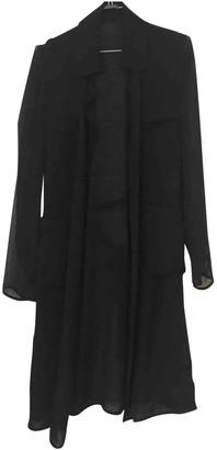 Diane von Furstenberg Black Silk Trench coats