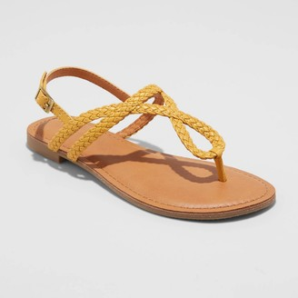 Universal Thread Women's Anabel Wide Width Braided Thong Ankle Strap Sandals - Universal ThreadTM 10W