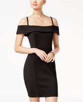 Speechless Juniors' Cold-Shoulder Bodycon Dress