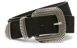 Claudie Pierlot Silver-Tone Buckle Belt