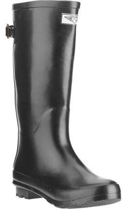 Forever Young Women's Mock Zipper Tall Rain Boot