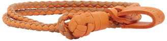Bottega Veneta Orange Intrecciato Bracelet