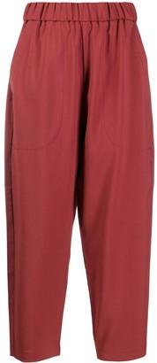 Barena Elasticated-Waist Tapered Trousers