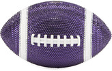 Judith Leiber Couture Game Ball Football Crystal Clutch Bag, Purple/White