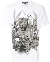Roberto Cavalli crystal embellished tiger T-shirt