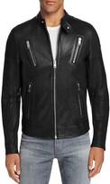 Diesel Moto Scaled Lambskin Leather Jacket