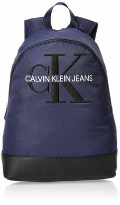 Calvin Klein Men's Ckj Monogram Nylon Cp Bp 40 Shoulder Bag Blue (Navy) 0.1x0.1x0.1 cm (W x H x L)