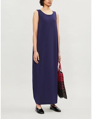 Issey Miyake Draped sleeveless woven maxi dress