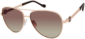 Jessica Simpson Collection Women's Sunglasses Gold/Tortoise - Gold & Tortoiseshell Metal Aviator Sunglasses