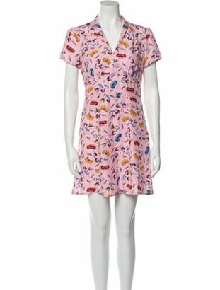 HVN Silk Mini Dress Pink