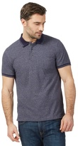 Maine New England Big And Tall Navy Textured Tailored Fit Polo Shirt