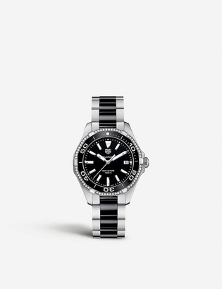 Tag Heuer WAY131G.BAO913 Acquaracer stainless steel and diamond watch
