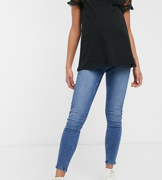 Urban Bliss Maternity exposed button skinny jeans