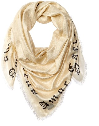 Gucci Blind For Love Wool-Blend Scarf