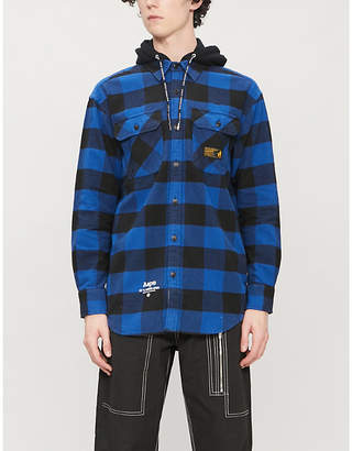 Aape Checked cotton-flannel shirt
