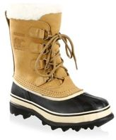 Sorel Caribou Nubuck Leather & Faux Fur Lace-Up Boots