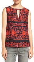 Cupcakes And Cashmere Women's Aiden Floral Print Tank