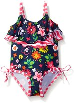 Pink Platinum Baby Colorful Flowers and Wave Swimsuit