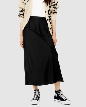 Topshop Drape Satin Bias Skirt