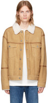 Alexander Wang Khaki Shearling denim Jacket