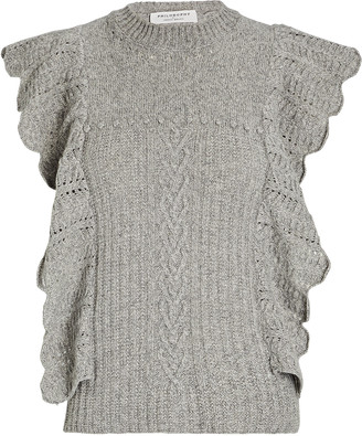 Philosophy di Lorenzo Serafini Ruffled Wool-Cashmere Sweater