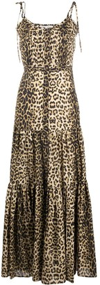 Veronica Beard Leopard Print Maxi Dress