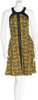 Robert Rodriguez Pleated Mini Dress