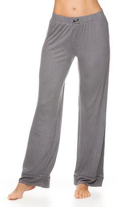 Kathy Ireland Women's Sleep Bottoms GRY - Gray Polka Dot Ladder-Trim Pajama Pants - Women