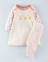 Boden Appliqué Dress & Leggings Set