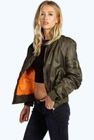 Boohoo Lillie MA1 Bomber Jacket