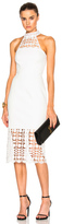 Nicholas Mosaic Lace Halter Dress in White.