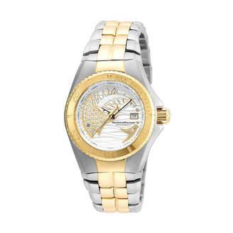 Technomarine TECHNO MARINE Techno Marine Womens Two Tone Stainless Steel Bracelet Watch-Tm-115204
