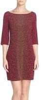 Leota Women's Dolman Sleeve Jersey Sheath Dress