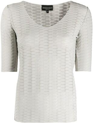 Emporio Armani Jacquard Effect T-Shirt